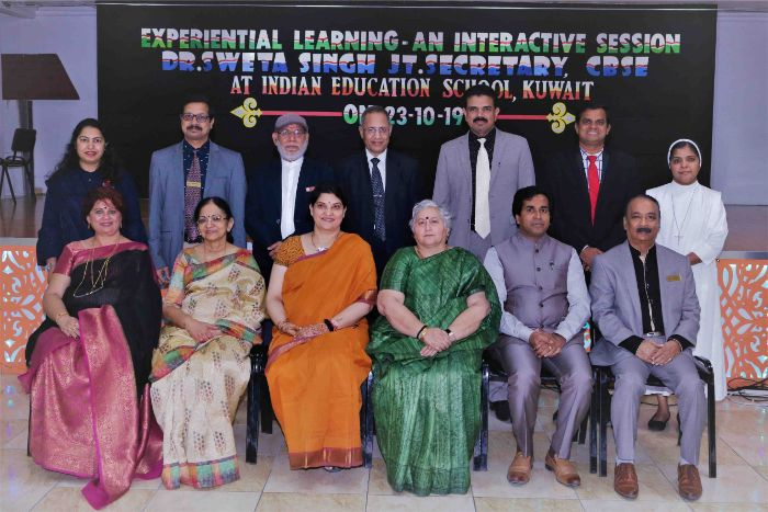 CBSE Joint Secretary holds meeting with Principals of Indian Schools at Bhavans, Kuwait
